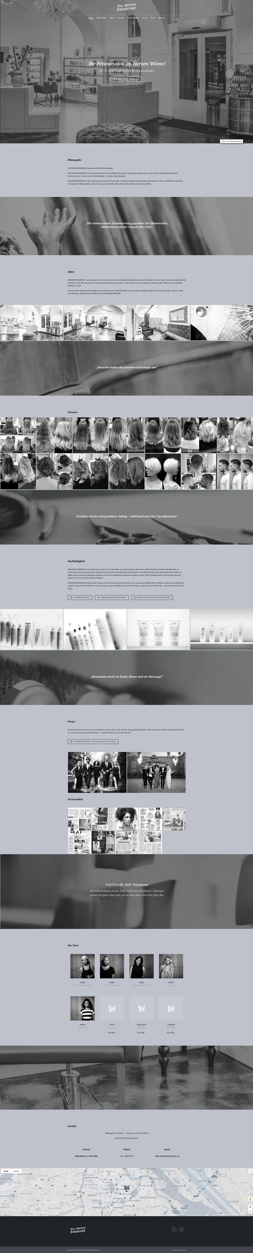 DIE-WIENER-FRISEURE-WEBSITE-ONEPAGER-by-PiKSEL