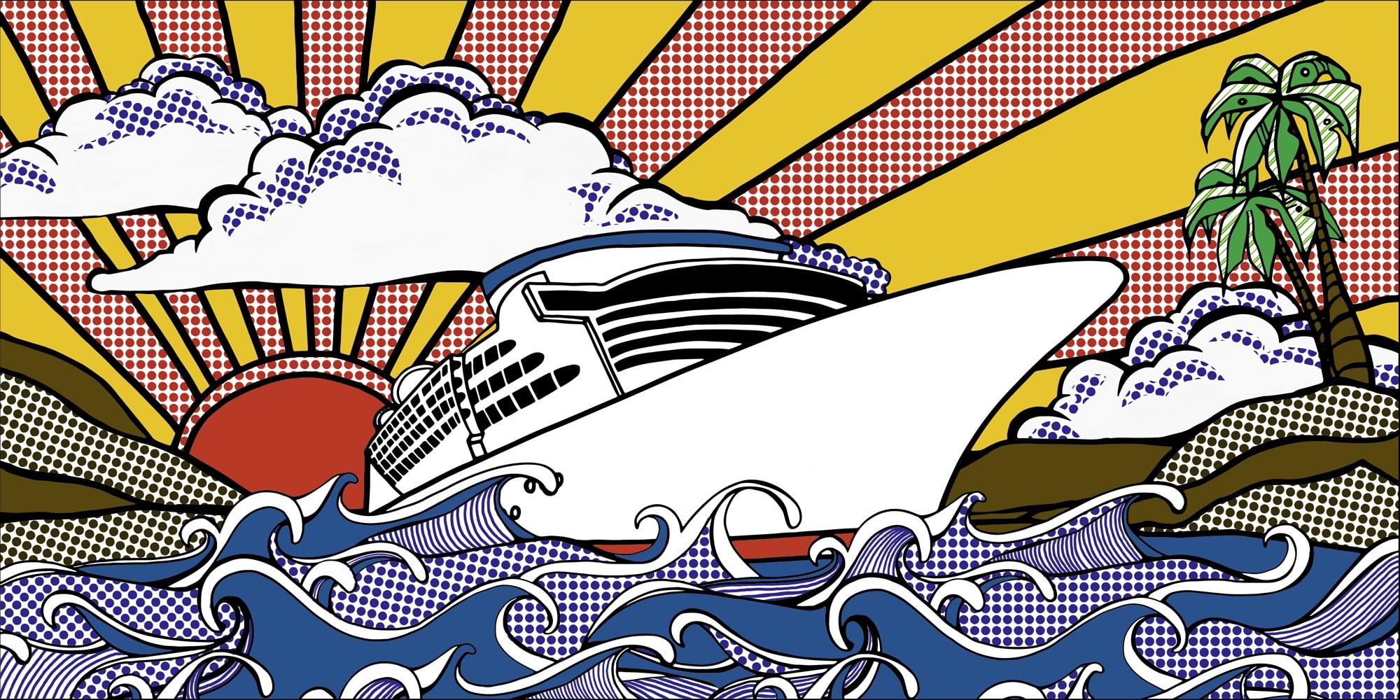 Vectorisierung-Zeichnung-Kreuzfahrschiff-applepie-AGENCY